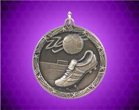 1 3/4 inch Gold Soccer Shooting Star Medal