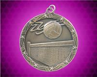 2 1/2 inch Gold Volleyball Shooting Star Medal