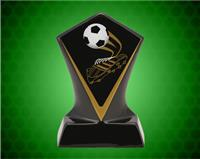 BLACK DIAMOND CERAMIC SOCCER AWARD 7 INCH