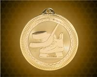 2 inch Gold Hockey Laserable BriteLazer Medal