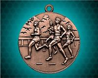 2 inch Bronze Cross Country Die Cast Medal