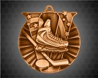 2 Inch Bronze Hockey Victory Medal