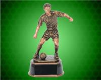 "17 1/2"" Male Gold/Bronze Soccer Resin"