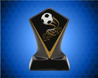 BLACK DIAMOND CERAMIC SOCCER AWARD 4 3/4 INCH