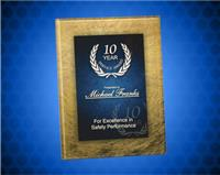7 3/4 x 9 3/4 Gold/Blue Acrylic Art Plaque with Easel