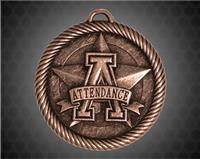 2 inch Bronze Attendance Value Medal