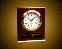 4 x 5 inch Rosewood Piano Finish Rectangle Desk Clock