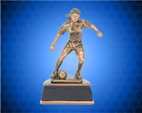 "13"" Female Gold/Bronze Soccer Resin"