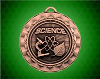 2 5/16 Inch Bronze Science Spinner Medal