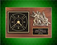 12 x 18 inch Wexford Series Plaque with Antique Bronze Hero Casting and Clock
