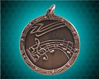 2 1/2 inch Bronze Music Shooting Star Medal