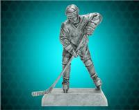 "8"" Pewter Male Hockey Resin"