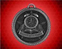 2 inch Silver Perfect Attendance Value Medal