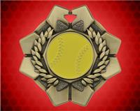 2 inch Gold Softball Imperial Medal