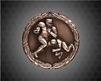 2 inch Bronze Football XR Medal