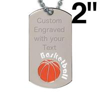 Victory Basketball Dog Tag