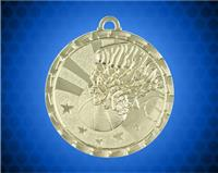 2 Inch Gold Basketball Bright Medal