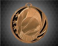 2 inch Bronze Baseball Laserable MidNite Star Medal
