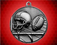 2 inch Silver Football Die Cast Medal