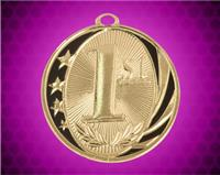 2 inch Gold 1st Place Laserable MidNite Star Medal