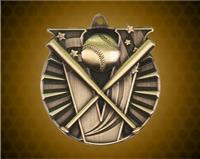 2 Inch Gold Baseball Victory Medal