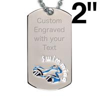 Victory Swimming Dog Tag
