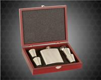 6 oz. Stainless Steel Flask with Wooden Presentation Box