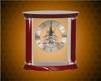 7 3/4 inch Rosewood/Silver Executive Piano Finish Clock