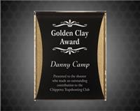 9 x 12 Black/Gold Reflection Acrylic Plaque with Adhesive Hanger