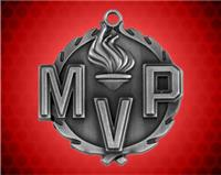 1 3/4 inch Silver MVP Wreath Medal