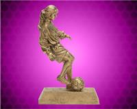 "8"" Gold Female Soccer Dribble Resin"