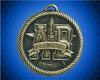 "2 inch Gold ""A-B"" Honor Roll Value Medal"