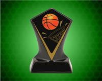 BLACK DIAMOND CERAMIC BASKETBALL AWARD 7 INCH