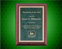 8 x 10 inch Cherry Finish Plaque with Emerald Marble Plate