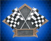 6 x 8 1/2 Inch Racing crossed Flags Diamond Resin