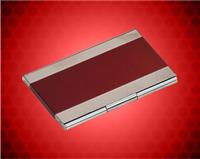 "2 1/2"" x 3 3/4"" Red Metal Business Card Holder"