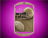 2 3/4 inch Gold Football DT Medal