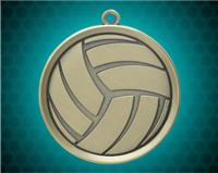 2 1/4 inch Gold Volleyball Mega Medal