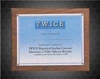 10 1/2 x 13 inch Bristol Series Plaque with Certificate or Photograph Holder