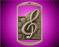 2 3/4 inch Gold Music DT Medal