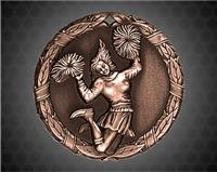 2 inch Bronze Cheerleader XR Medal
