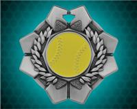 2 inch Silver Softball Imperial Medal
