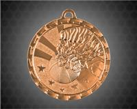 2 Inch Bronze Basketball Bright Medal