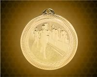 2 inch Gold Cross Country Laserable BriteLazer Medal
