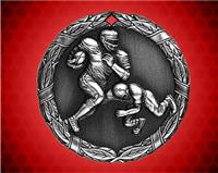 2 inch Silver Football XR Medal