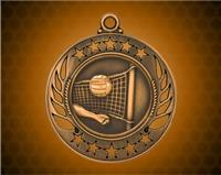 2 1/4 inch Bronze Volleyball Galaxy Medal
