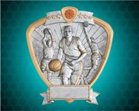 "8"" x 8 1/2"" Male Basketball Shield Resin"
