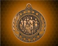 2 1/4 inch Bronze Cross Country Galaxy Medal