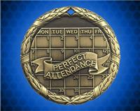 1 1/4 inch Gold Perfect Attendance XR Medal