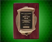 11 x 15 inch Rosewood Piano-Finish Plaque with Antique Bronze Finish Frame
